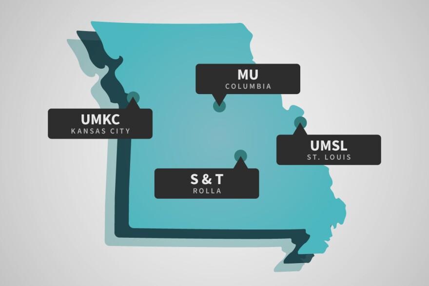 University of Missouri system map